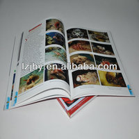 Professional glue binding glossy lamination photo book printing