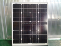 125x125 cell, black color, A grade cell, high efficient, pv module, high quality 18v 60w mono solar panel