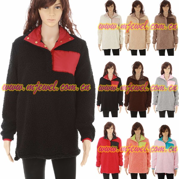 FACTORY wholesale monogrammed sherpa fleece pullover