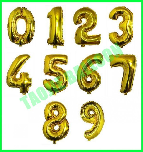 New arrive 20 inches polka dot foil Number balloon