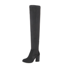 2017 New Design Women Sheep Suede Over Knee Rubber Sole Crotch Thigh High Boots