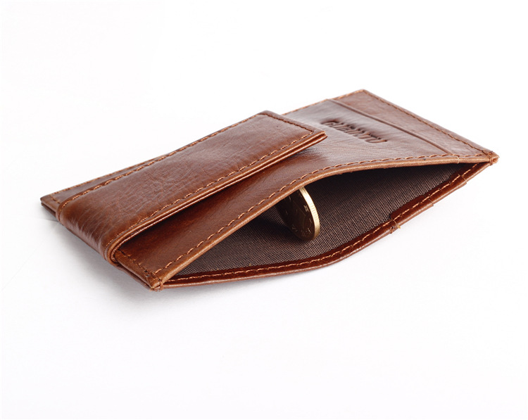 Magnet Genuine Leather Money Clip wallet