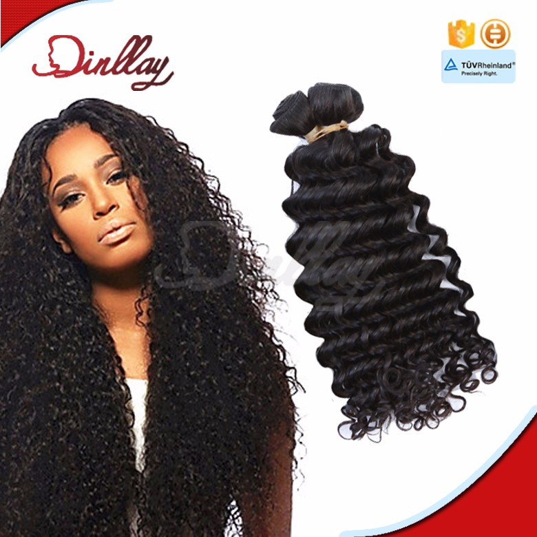 Tangle Free Mongolian Hair Funmi Hair, Big Deep Curl Hair Wefts