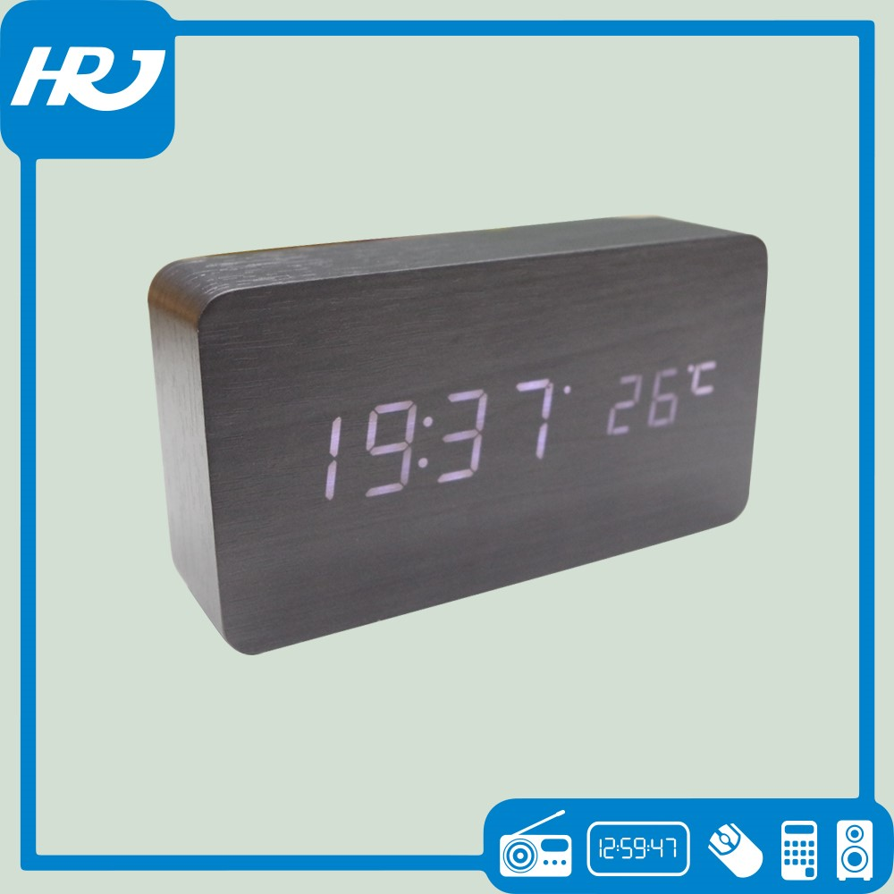 Factory wholesale portable digital time clock with am fm radio