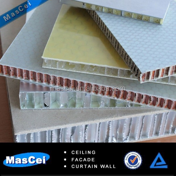 Indoor fire resistant aluminum honeycomb wall panel