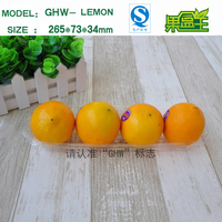 Food grade extra large rectangular long plastic packing tray for fruit