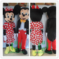 mickey and minnie mascot costume for boy and girl