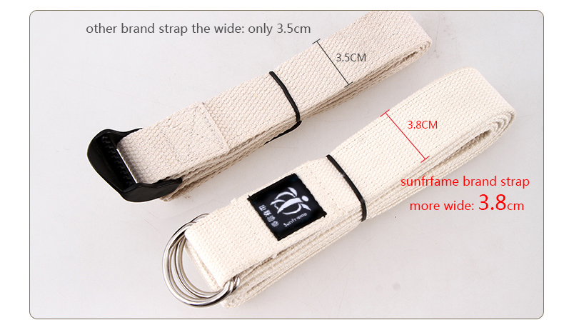 Cotton Yoga Strap with cotton material pilates and yoga tool welcome OEM brand