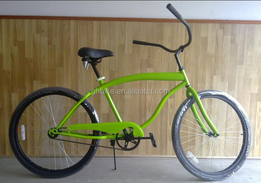 "26""inch CE single speed man cheaper cruiser beach bicycle"