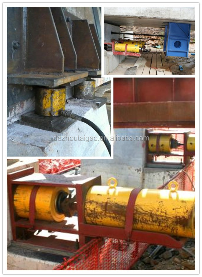 High quality hydraulic jack of 100 tons  hydraulic cylinder