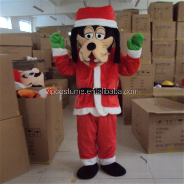 Cute Christmas dog mascot costume for adult Character Fancy Dress Adult