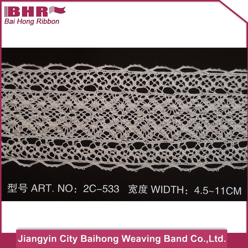 New design embroidery neck lace trim with low price