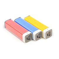 bulk buy from china External Battery Charger 2600mA Universal Portable Lipstick Power Bank