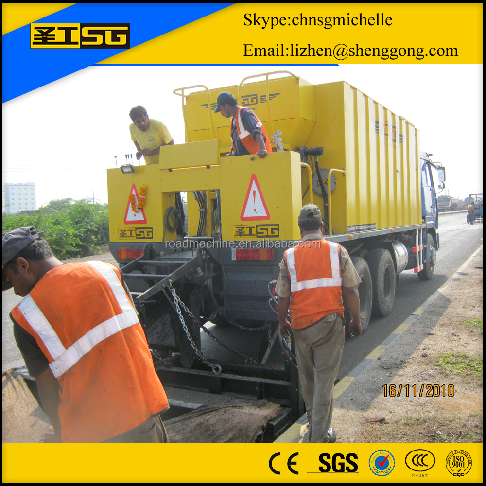 Low fuel consumption micro surfacing paver,slurry seal truck for sale