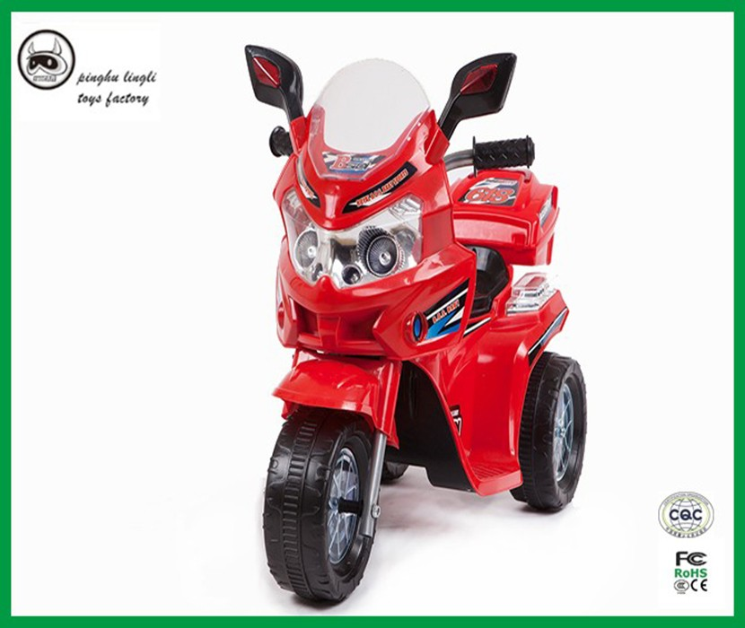 Pinghu Lingli LL-618 plastic Motor Bike Kids Toy Car Electric Motorcycle for children