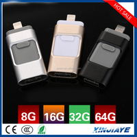 Wholesale low price otg usb flash drive mobile phone usb disk 32gb flash drive for iphone