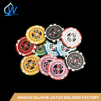 14g Ultimate Sticker Poker Chips Clay