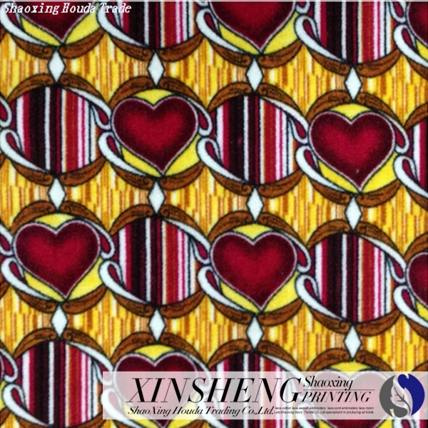 general heart design home textile fabric for sofa