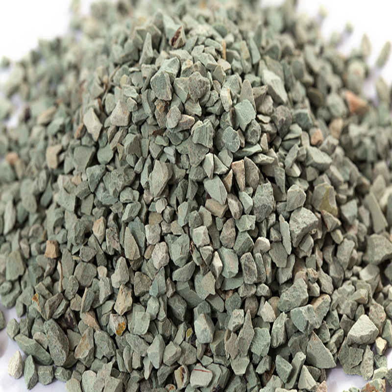 Natural green zeolite granular used in filer for purifying water in swimming pool