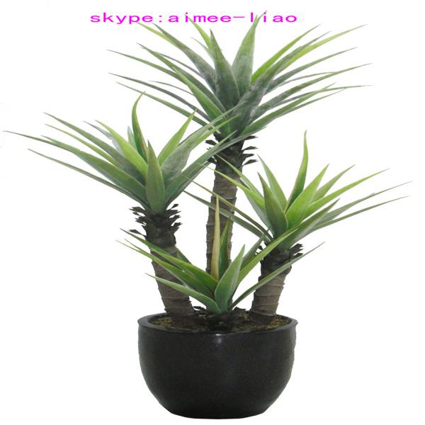 q081721 chinois bonsa artificielle agave palnt pas cher en plastique arbustes - Arbuste Artificiel Exterieur Pas Cher