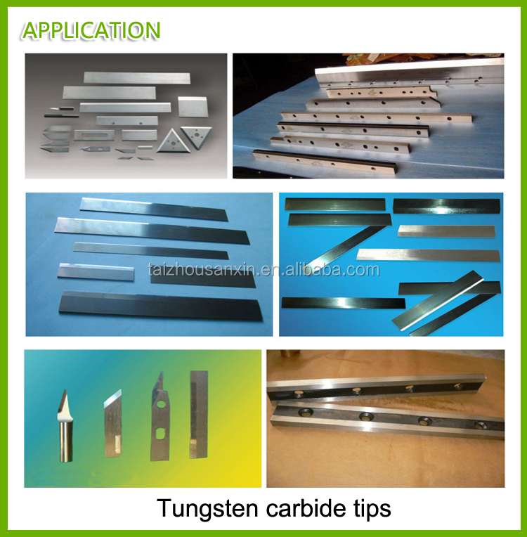 320mm 330mm k20 tungsten carbide strips bars for processing hardwood