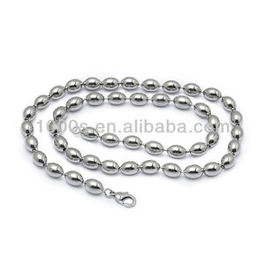 Stainless Steel Beads Chain, High Quality 316L Stainless Steel Ball Necklace