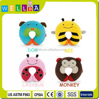 2015 new design animal and u-shape baby car travel neck pillow