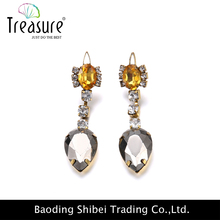 2015 Mixed jewelry Cheap earring stud wholesale lot diamond Rhinestone Earrings With Iron base 12pairs