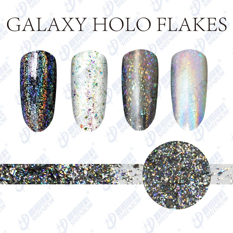 Sheenbow Golden Galaxy Holographic Flakes