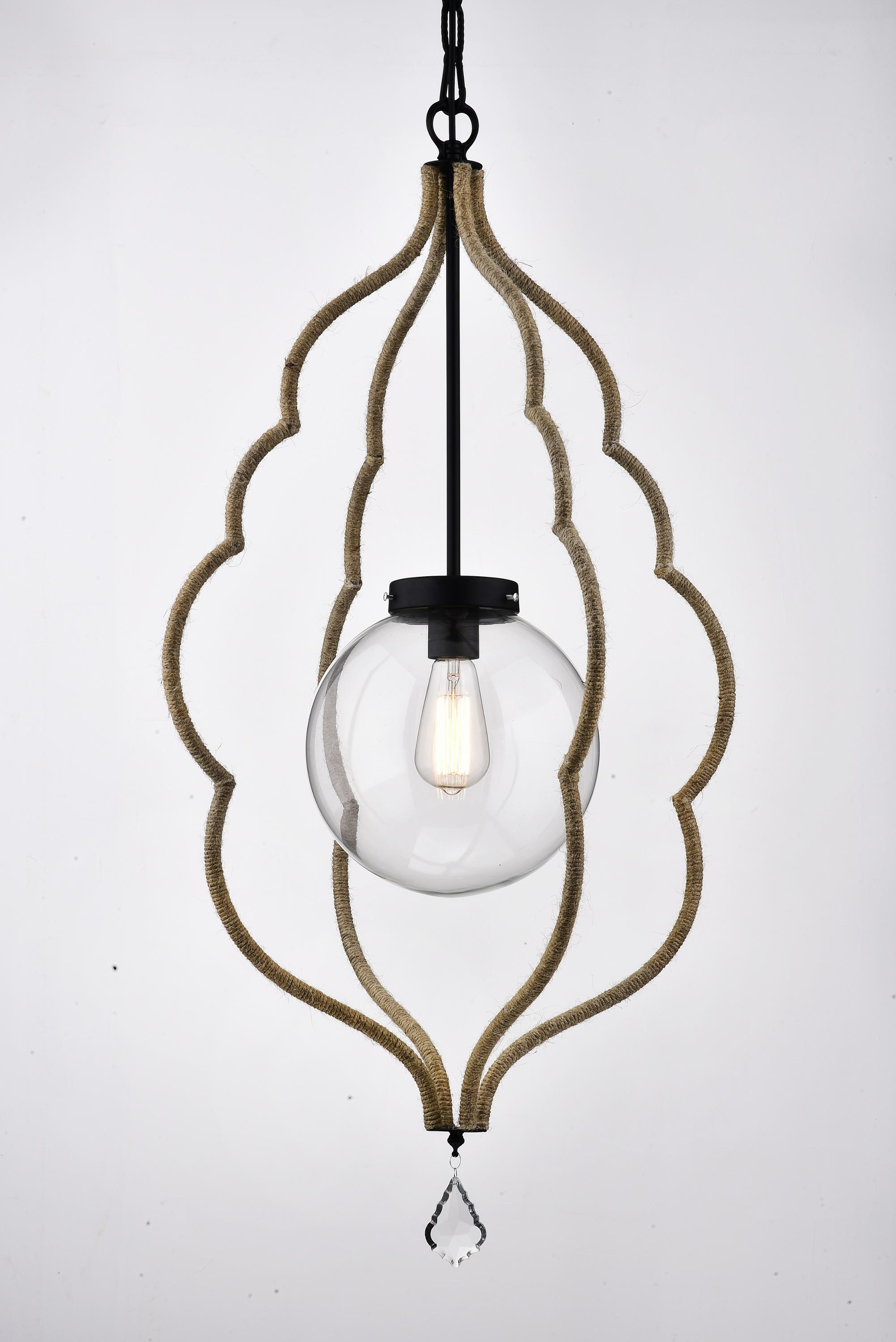 American style decorative loft industrial chandelier rope vintage pendant lamp