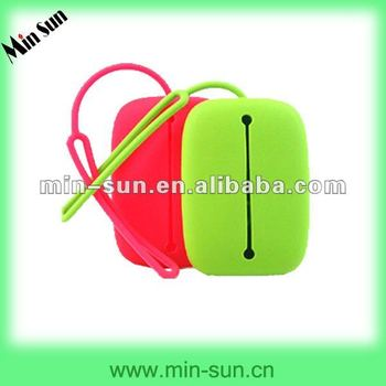 Eco-friendly Silicone Car Key Case With O Shape Rope