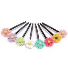 Kids type wholesale cheap 60mm cute resin daisy hair barrette for girls