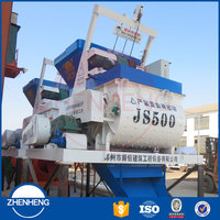 Hot Sale Big Capacity JS 500 JS500 500L Auto Hydraulic Electric Twin Shaft Concrete Mixer