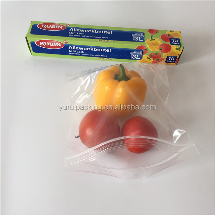 Hot Sale Food Grade Printed Zip Sealed Poly Bag for Snack Packaging