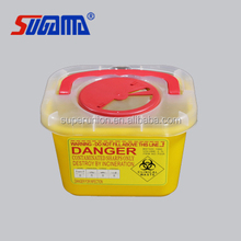 new hot sale PP square sharp container plastic medical containers