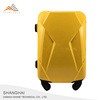 Yellow Vintage Trolley Luggage Printed Hard Shell Luggage