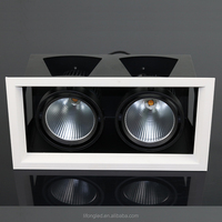 2*18W High power HPL CITIZEN double head cob led grille down light