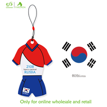 Korea novelty T-shirt shape football cup 2018 promotional item souvenir hanging absorbent paper car air freshener in stock