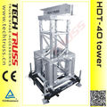 Medium lifting tower for FORK COUPLER truss system