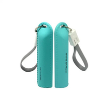 Luxury Gift Plastic Leather Effect Portable Charger 2000 / 2200 / 2600 mAh Mini Cute Cylinder Power Bank