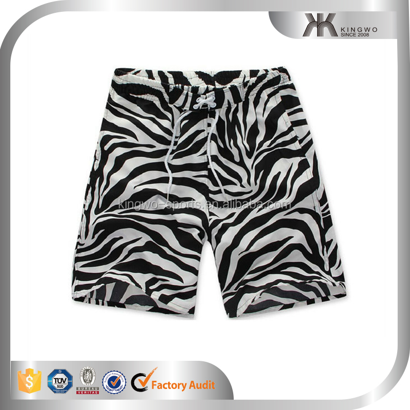 Zebra stripes beach printed swim trunk 2016 wholesale