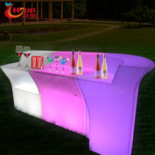 illuminated led bar counter table ,plastic led bar counter