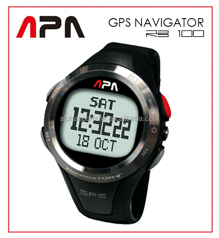 Alpha Sports AlphaSports APA RB100 GPS Watch - Time/Speedometer/Chronograph/Navigation/HeartRateMonitor/EL Backlight