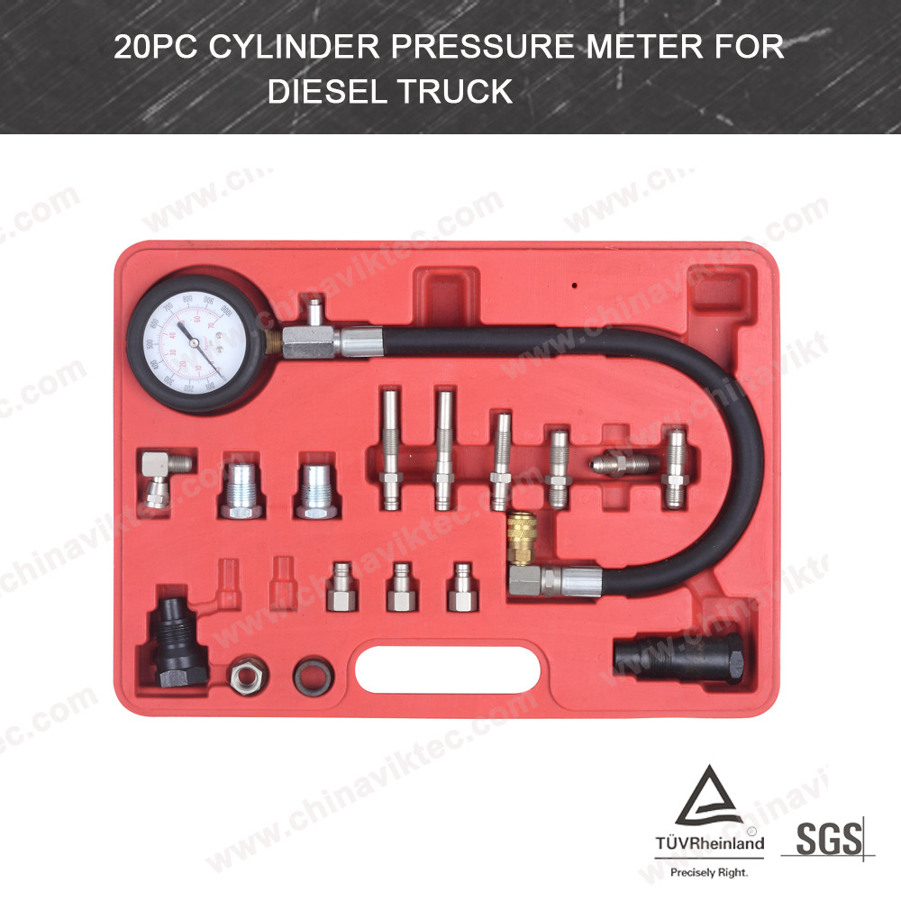 20pc China supplier Compression Tester Kit Cylinder Pressure Meter /auto diagnostic tool for all cars(VT01051)