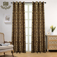 Luxury Polyester Thermal modern curtains for hotels