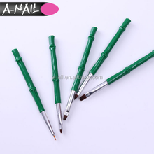 5 PCS Nail UV Gel Liner Brush Acrylic Drawing Painting Pen Green Bamboo Handle Manicure Nail Brush Set For Nail Art DIY