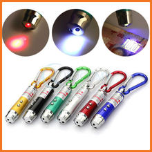 With Carabiner Clip 3 in 1 UV Detector Laser Beam LED Flashlight