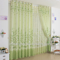 100% polyester new design printed window curtain