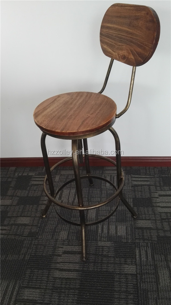 Adjustable Industrial Barstool/Vintage Adjustable Barstool/Metal Adjustable Industrial Barstool