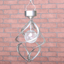 Hot Sale Solar RGB Changing Color Wind Chime Wind Spinner for Garden Decoration